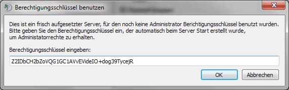 TS3 Erstanmeldung am Server