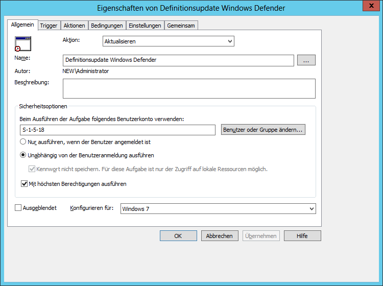 Wsus deaktivierte automatische updates signaturupdates for Window defender update