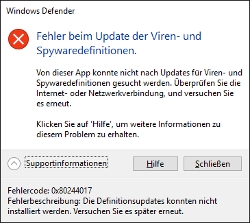 Windows Defender Error 0x80244017