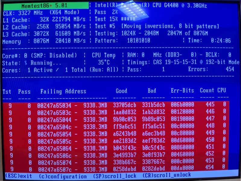 defekter RAM