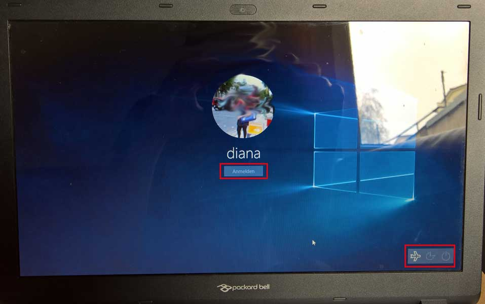 ausgesperrt aus Windows 10