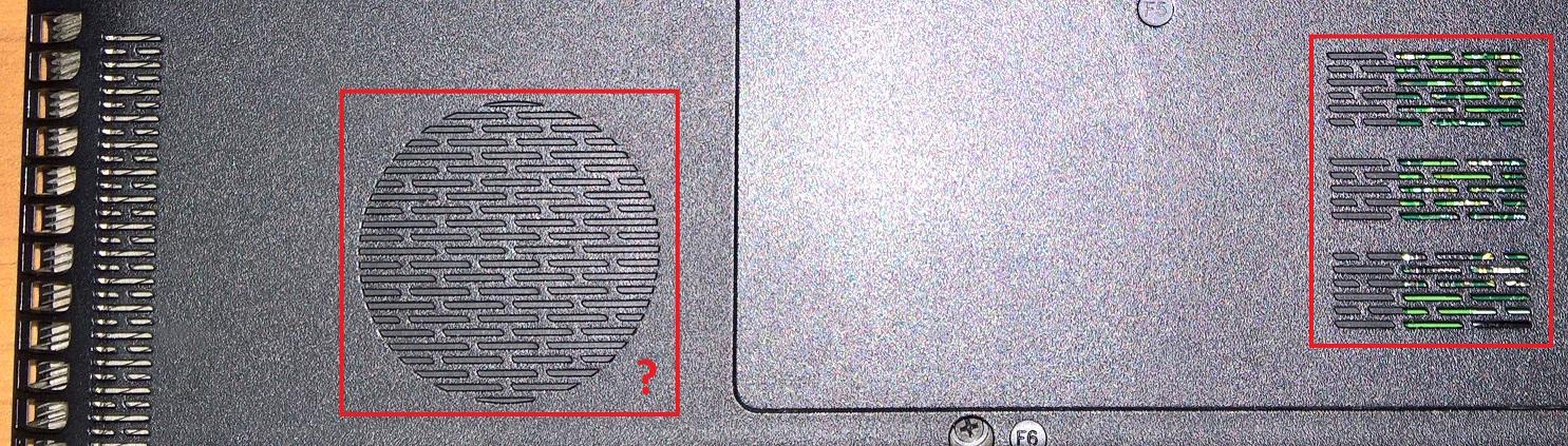 Toshiba Laptop Lüftereinlass